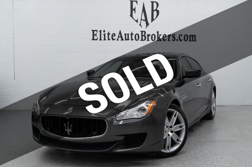 2015 Maserati Quattroporte >> 2015 Used Maserati Quattroporte 4dr Sedan S Q4 At Elite Auto Brokers Serving Washington D C Arlington Beth Md Iid 19174022