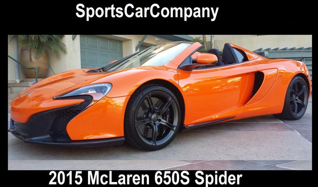 2015 McLaren 650S 2dr Convertible Spider - 15483160 - 0