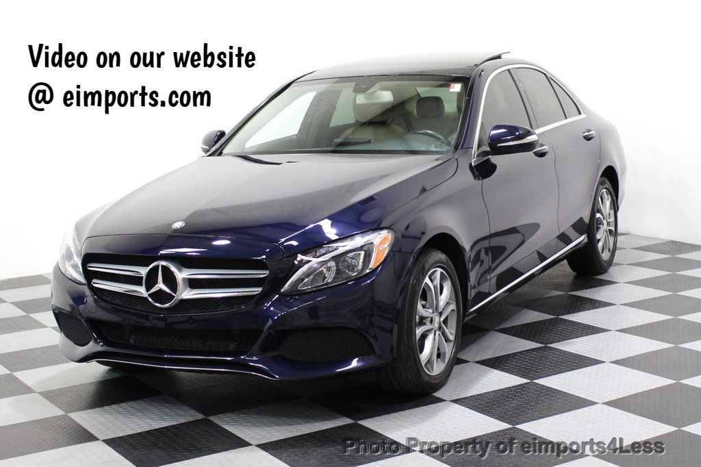 2015 Mercedes-Benz C-Class CERTIFIED C300 4Matic AWD Blind Spot LED CAM NAVI - 17537733 - 0