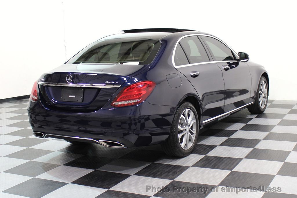 2015 Mercedes-Benz C-Class CERTIFIED C300 4Matic AWD Blind Spot LED CAM NAVI - 17537733 - 31