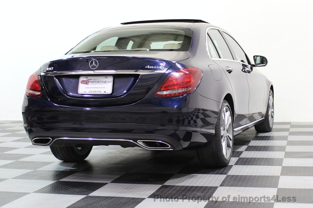 2015 Mercedes-Benz C-Class CERTIFIED C300 4Matic AWD Blind Spot LED PANO CAM NAVI - 17490665 - 17
