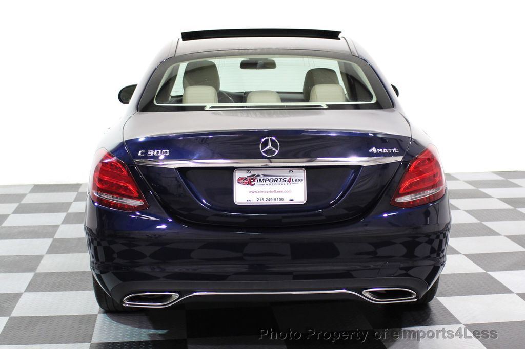 2015 Mercedes-Benz C-Class CERTIFIED C300 4Matic AWD Blind Spot LED PANO CAM NAVI - 17490665 - 31