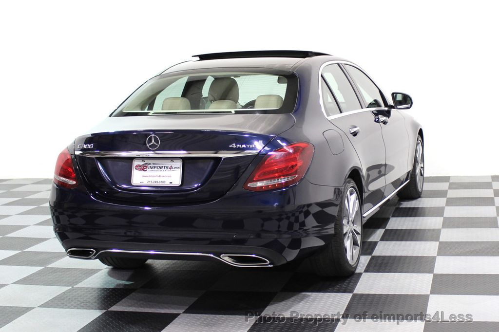 2015 Mercedes-Benz C-Class CERTIFIED C300 4Matic AWD Blind Spot LED PANO CAM NAVI - 17490665 - 32