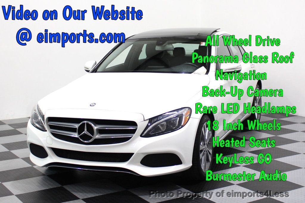 2015 Mercedes-Benz C-Class CERTIFIED C300 4Matic AWD CAMERA PANO NAVI - 17484517 - 0