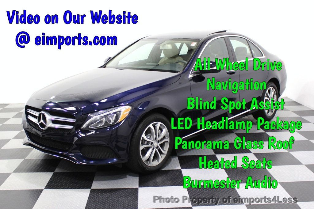 2015 Mercedes-Benz C-Class CERTIFIED C300 4Matic NAV PANO AWD Burmester LED - 18147497 - 0