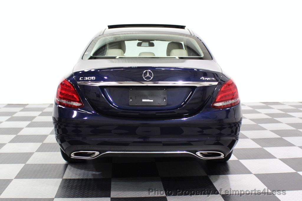 2015 Mercedes-Benz C-Class CERTIFIED C300 4Matic NAV PANO AWD Burmester LED - 18147497 - 29