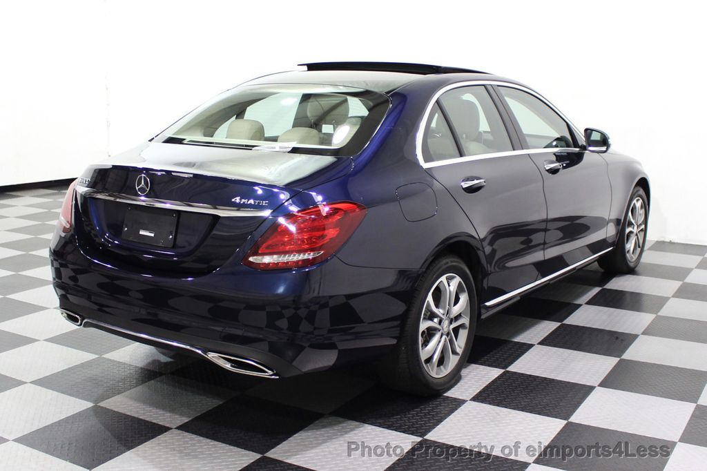 2015 Mercedes-Benz C-Class CERTIFIED C300 4Matic NAV PANO AWD Burmester LED - 18147497 - 30