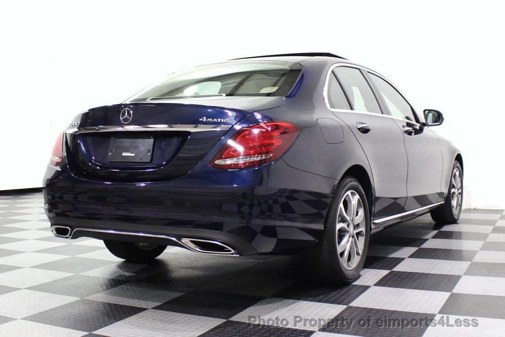 2015 Mercedes-Benz C-Class CERTIFIED C300 4Matic NAV PANO AWD Burmester LED - 18147497 - 44