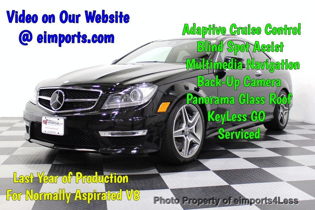 2015 Mercedes-Benz C-Class CERTIFIED C63 AMG V8 Coupe Adaptive Cruise BLIS Cam NAV - 18257416 - 0
