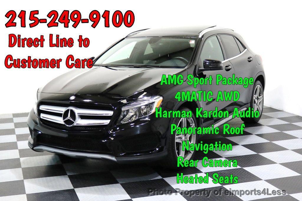 2015 Mercedes-Benz GLA CERTIFIED GLA250 4Matic AMG Sport BLIND SPOT CAM NAVI - 17270733 - 0