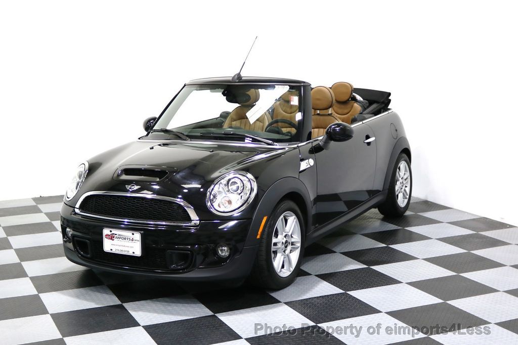 2015 MINI Cooper Convertible CERTIFIED COOPER S CABRIOLET HK LEATHER - 17274704 - 0
