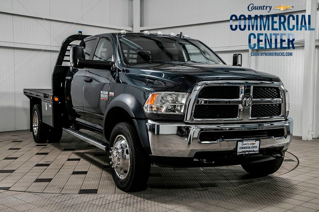 2015 Ram 5500 5500 CREW CAB 4X4 * 6.4 HEMI * NEW 10' FLATBED W/ TOOLBOXES - 17206663 - 0