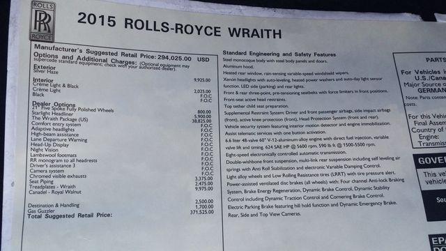 2015 Rolls-Royce Wraith 2dr Coupe - 16331521 - 8