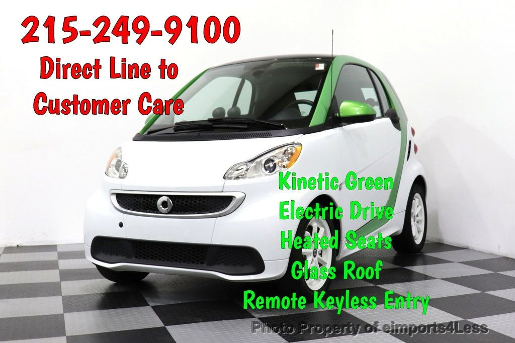 2015 smart fortwo electric drive CERTIFIED FORTWO ELECTRIC DRIVE PASSION KINETIC GREEN - 18423106 - 0
