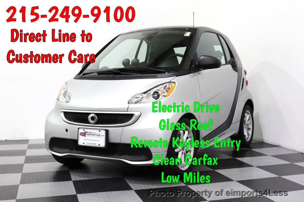 2015 smart fortwo electric drive CERTIFIED FORTWO PASSION EDRIVE CRUISE HEATED SEATS GLASS ROOF - 18467689 - 0