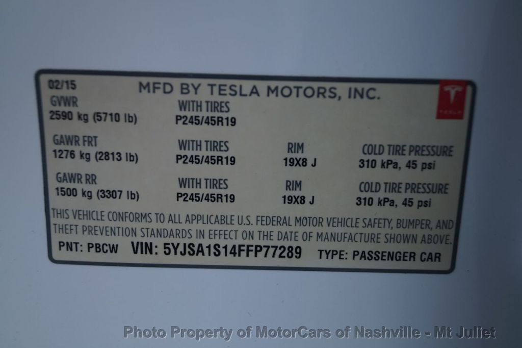 2015 Tesla Model S 4dr Sedan RWD 60 kWh Battery - 18303457 - 55