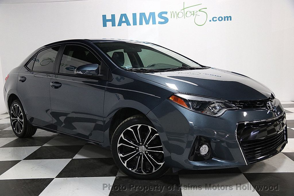 2015 used toyota corolla 4dr sedan cvt s at haims motors serving fort lauderdale hollywood. Black Bedroom Furniture Sets. Home Design Ideas