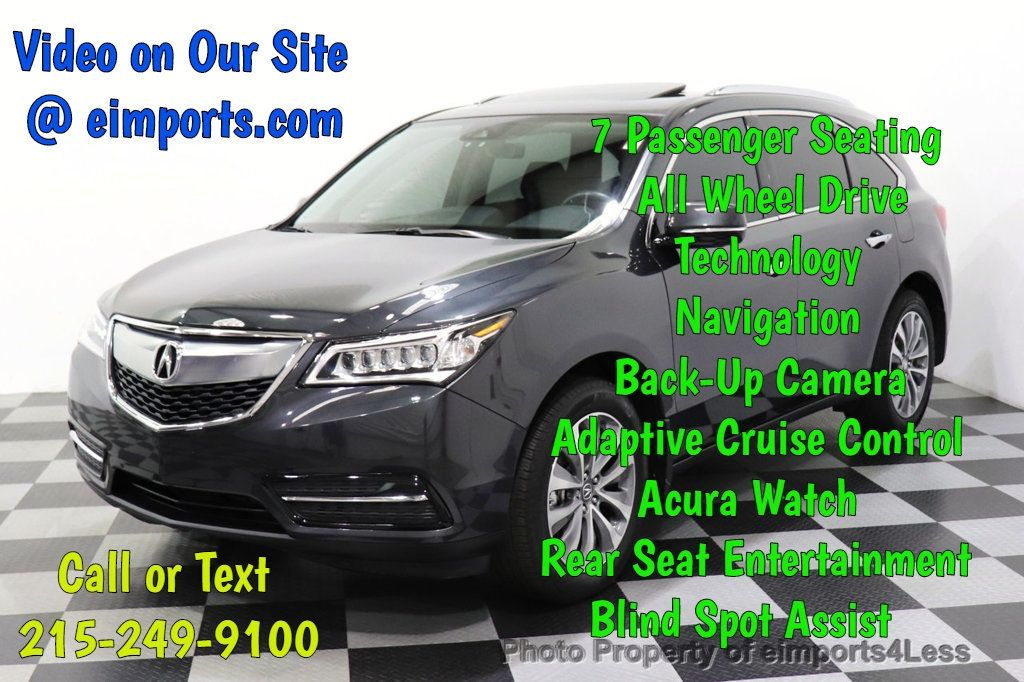 2016 Acura MDX CERTIFIED MDX SH-AWD ACURAWATCH TECH ENT 7 PASS - 18499012 - 0