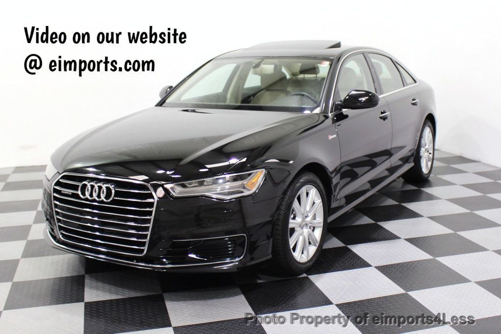 2016 Audi A6 CERTIFIED A6 3.0T Quattro AWD LEDs SIDE ASSIST CAM NAV - 18081086 - 0