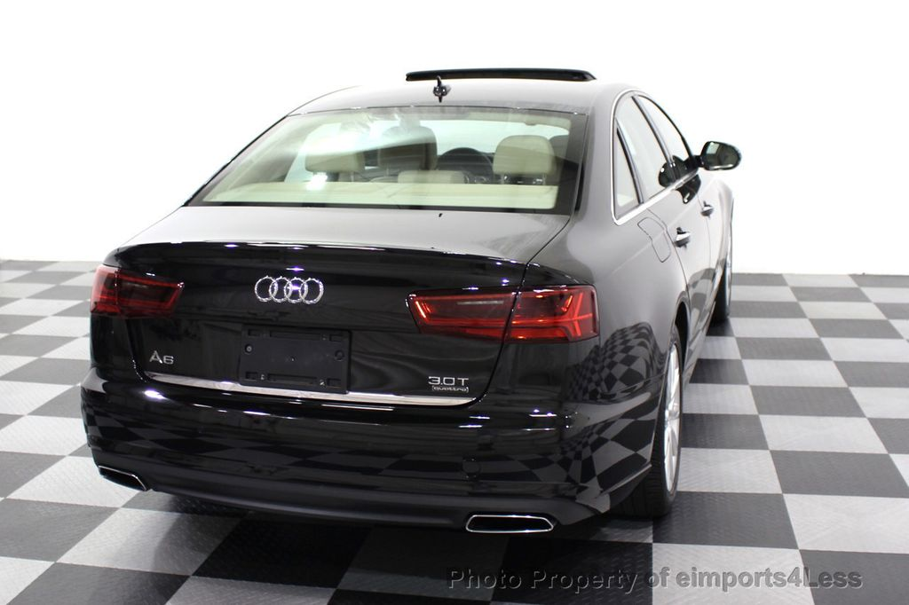 2016 Audi A6 CERTIFIED A6 3.0T Quattro AWD LEDs SIDE ASSIST CAM NAV - 18081086 - 46