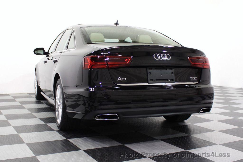 2016 Audi A6 CERTIFIED A6 3.0T Quattro AWD LEDs SIDE ASSIST CAM NAV - 18081086 - 54
