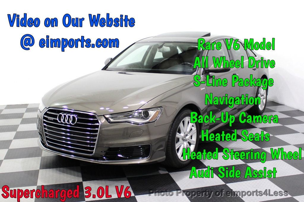 2016 Audi A6 CERTIFIED A6 3.0T Supercharged Quattro AWD Blind Spot CAMERA NAV - 18227510 - 0