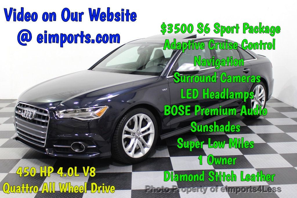 2016 Audi S6 CERTIFIED S6 4.0T V8 Quattro Sport Package DRIVER ASSIST - 18130111 - 0