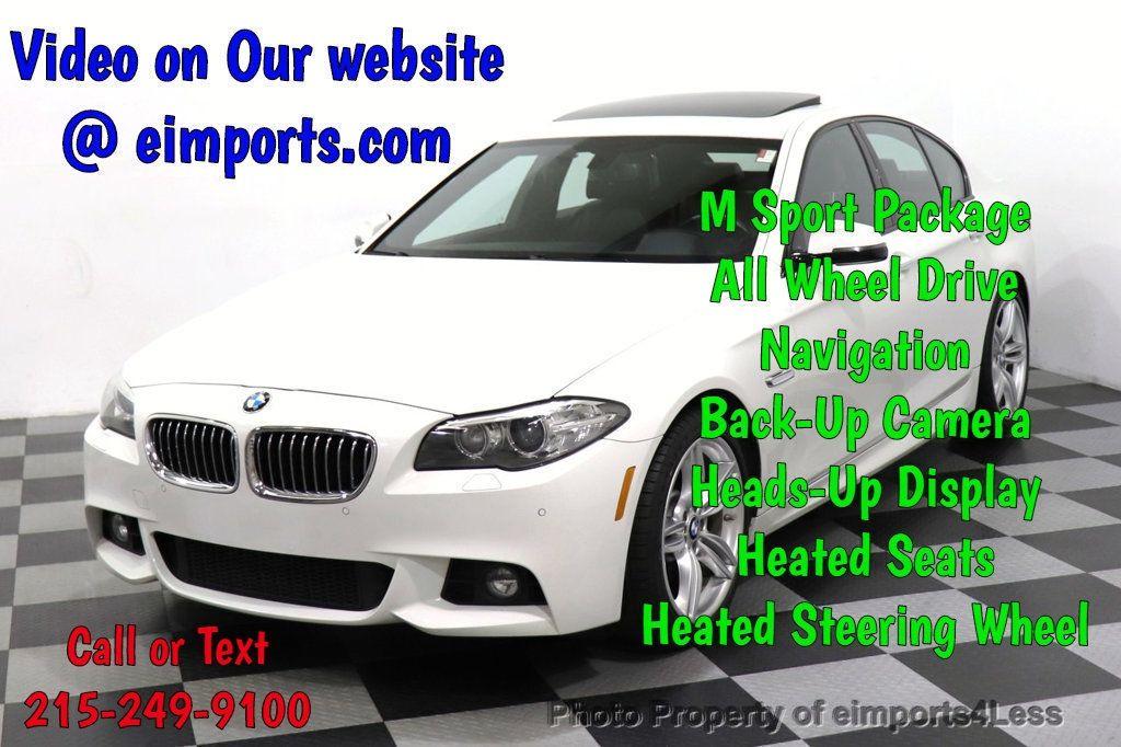 2016 BMW 5 Series CERTIFIED 535i xDrive M Sport AWD HUD HK CAMERA NAV - 18518154 - 0