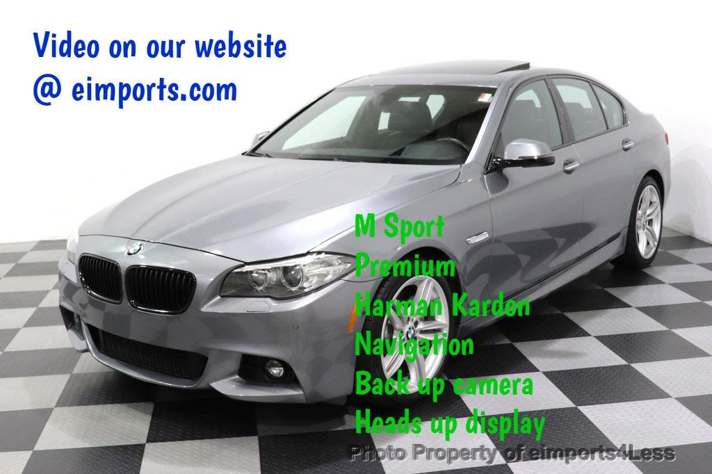 2016 BMW 5 Series CERTIFIED 535i xDrive M SPORT PREMIUM AWD HUD HK CAM NAV - 18448596 - 0