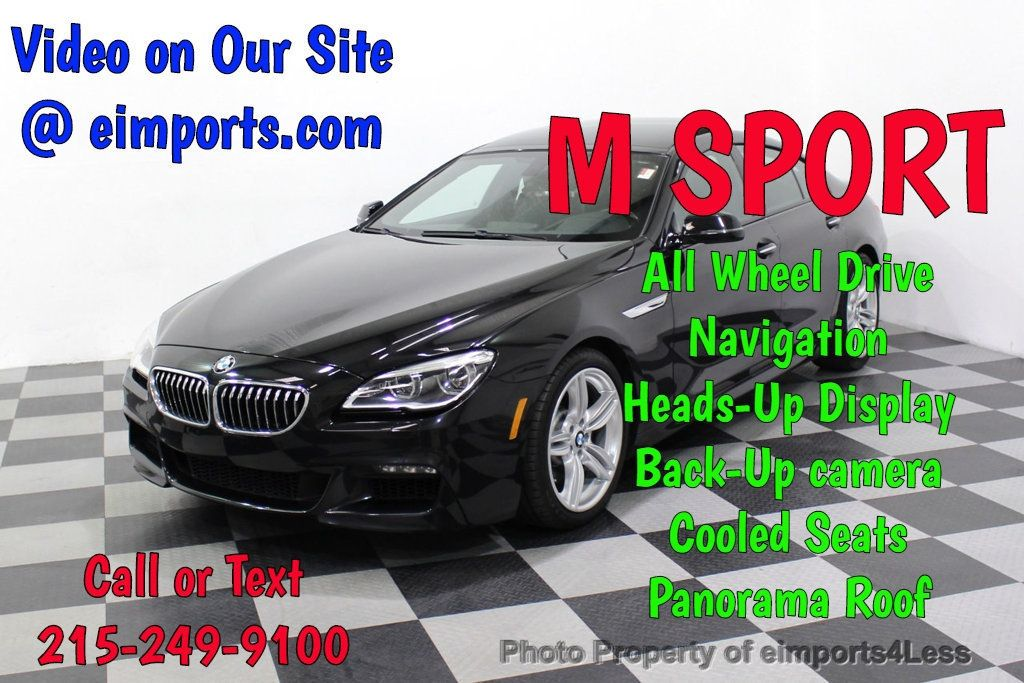 2016 BMW 6 Series CERTIFIED 640i xDrive M Sport Edition AWD GC HUD NAV CAM - 18699644 - 0