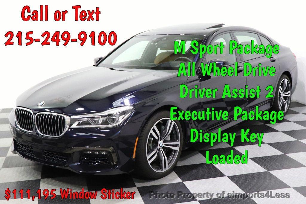 2016 BMW 7 Series CERTIFIED 750i xDrive M Sport AWD NAV CAM PANO BLIS HUD - 18587058 - 0