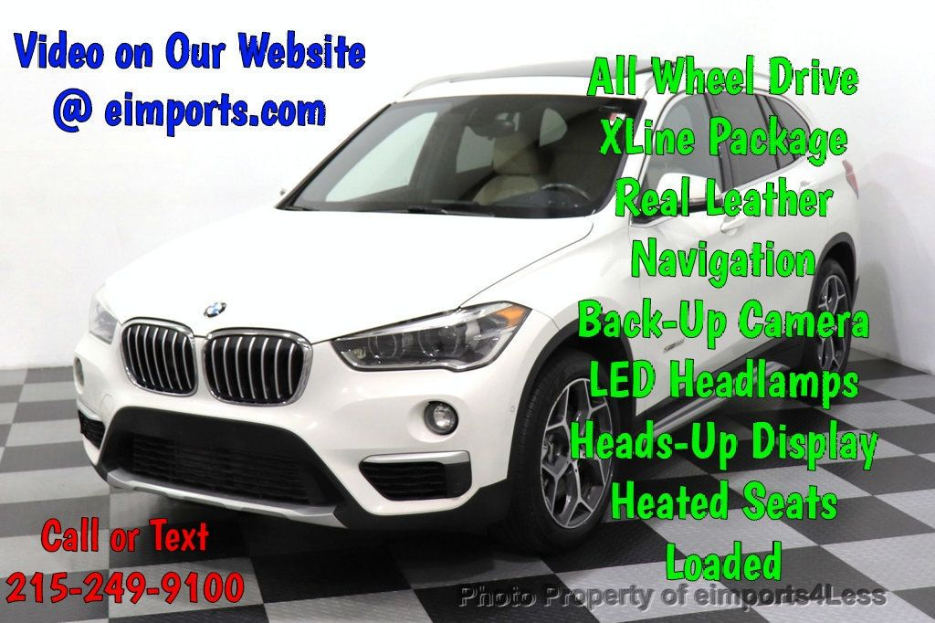 2016 BMW X1 CERTIFIED X1 xDrive28i AWD TECH PANO NAV CAM - 18545379 - 0