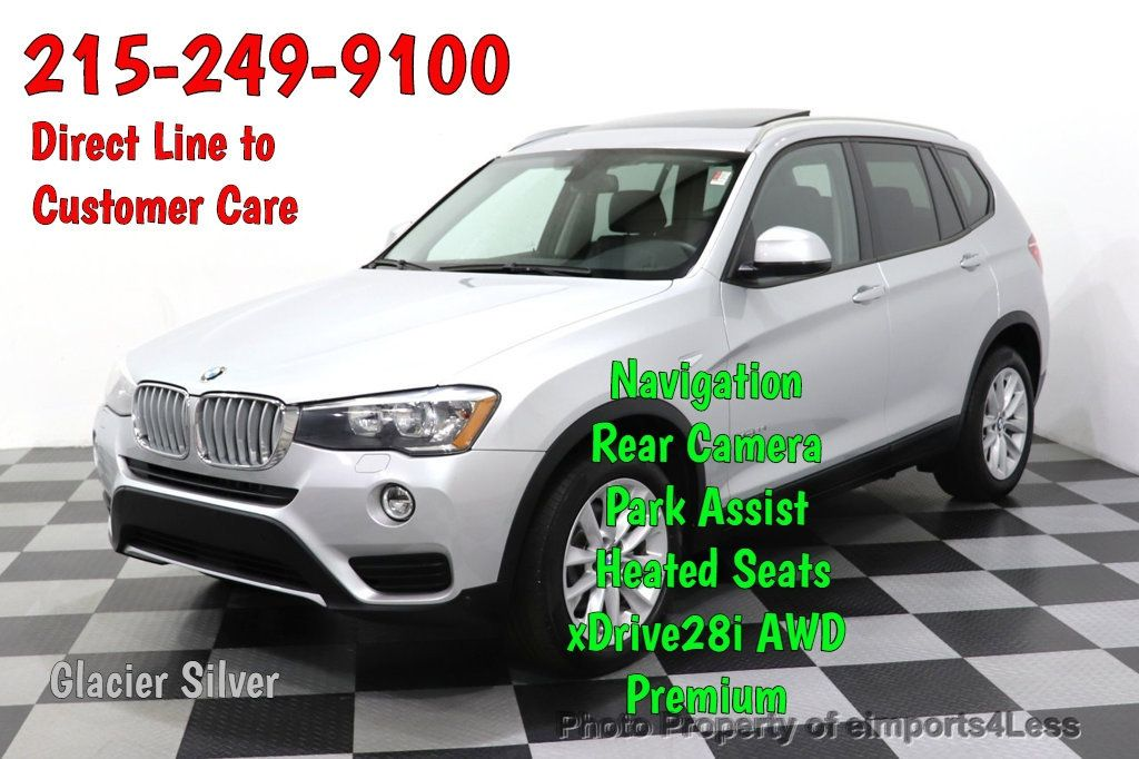 2016 BMW X3 CERTIFIED X3 xDrive28i PREMIUM AWD CAMERA NAVIGATION - 18499014 - 0