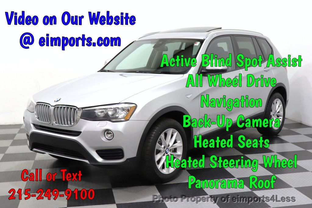 2016 BMW X3 CERTIFIED X3 xDrive28i PREMIUM AWD DRIVING ASSISTANCE PLUS - 18518151 - 0
