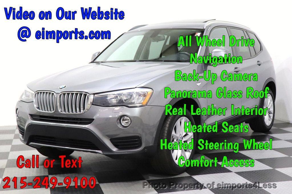 2016 BMW X3 CERTIFIED X3 xDrive28i PREMIUM PACKAGE AWD CAMERA NAV - 18518149 - 0