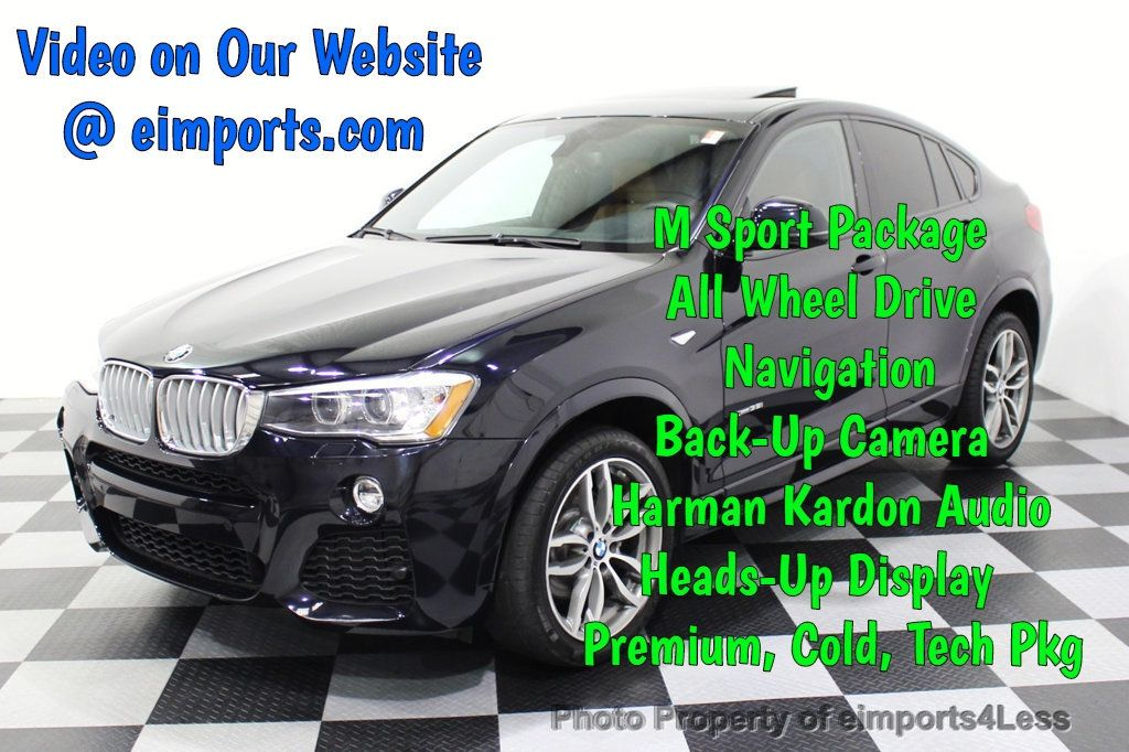 2016 BMW X4 CERTIFIED X4 xDRIVE35i M Sport AWD TECH CAMERA HUD NAV - 18081087 - 0