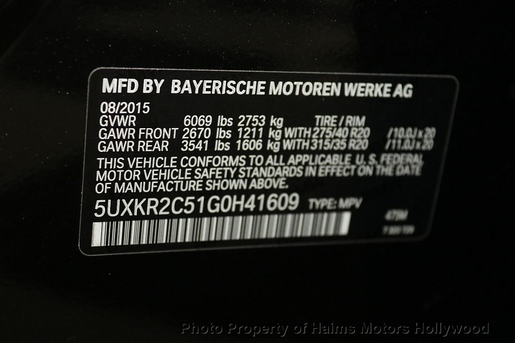 2016 BMW X5 sDrive35i - 17718758 - 40