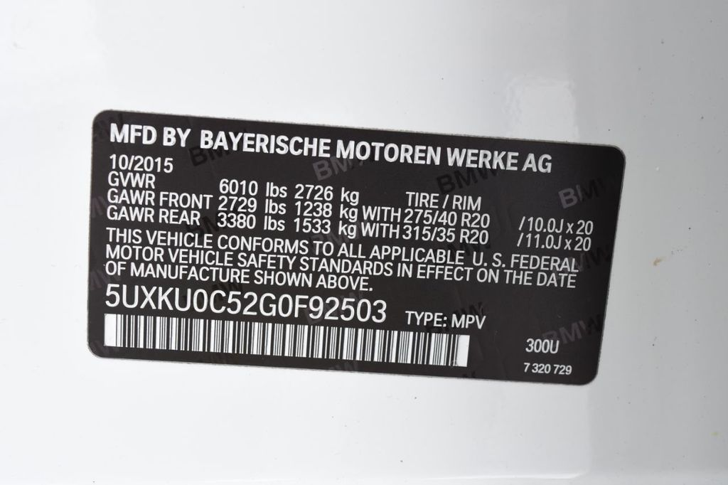 2016 BMW X6 M SPORT PACKAGE - 18468146 - 60