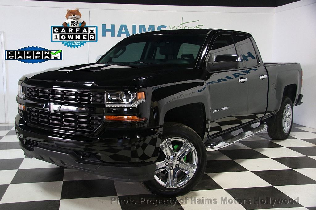 2016 used chevrolet silverado 1500 2wd crew cab 153 0 custom at haims motors serving fort. Black Bedroom Furniture Sets. Home Design Ideas