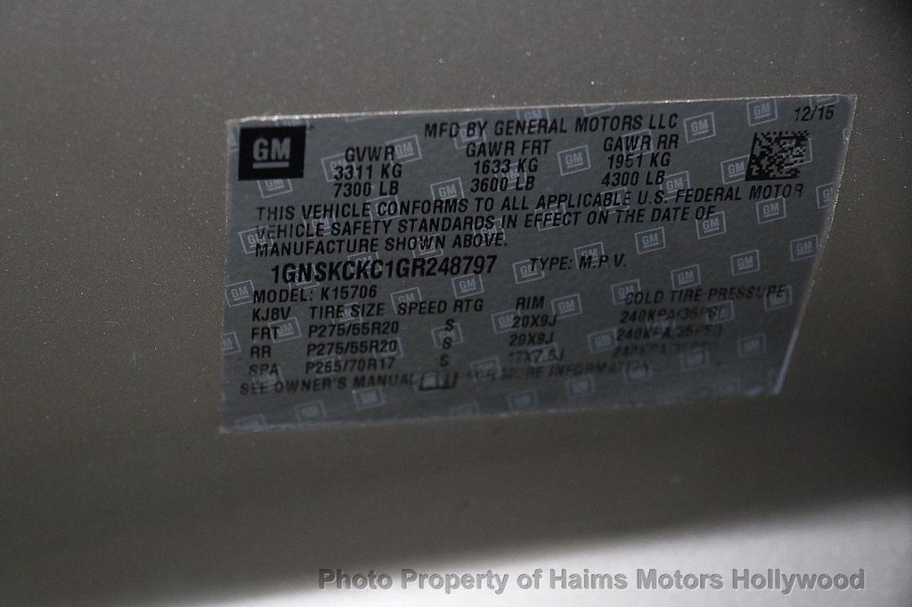 2016 Chevrolet Tahoe 4WD 4dr LTZ - 17100809 - 38