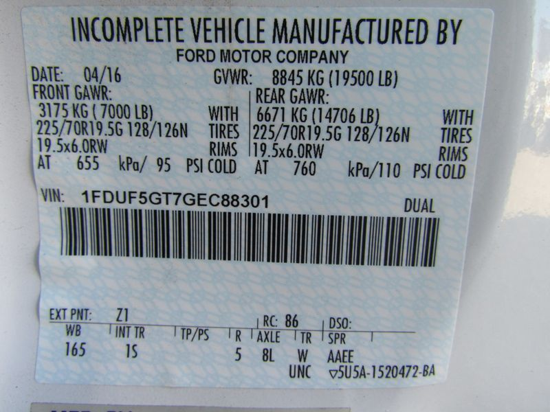 2016 Ford F550 Mechanics Service Truck 4x2 - 17136261 - 19