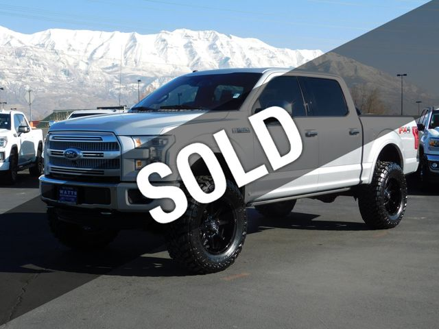 2016 Ford F150 Lifted >> 2016 Used Ford F 150 Platinum Fx4 At Watts Automotive Serving Salt Lake City Provo Ut Iid 19519359