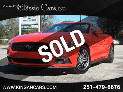 2016 Ford Mustang w/LEATHER & HEATED/COOLED SEATS Convertible