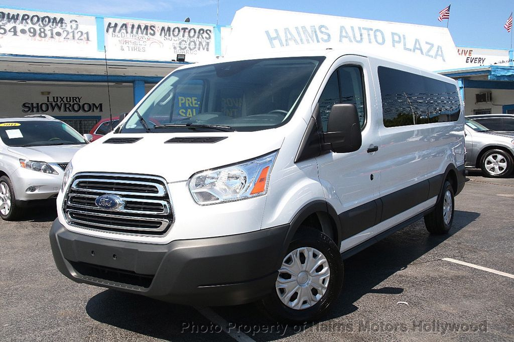 """2016 Used Ford Transit Wagon T-350 148"""" Low Roof XLT Swing-Out RH Dr at Haims Motors Serving"""