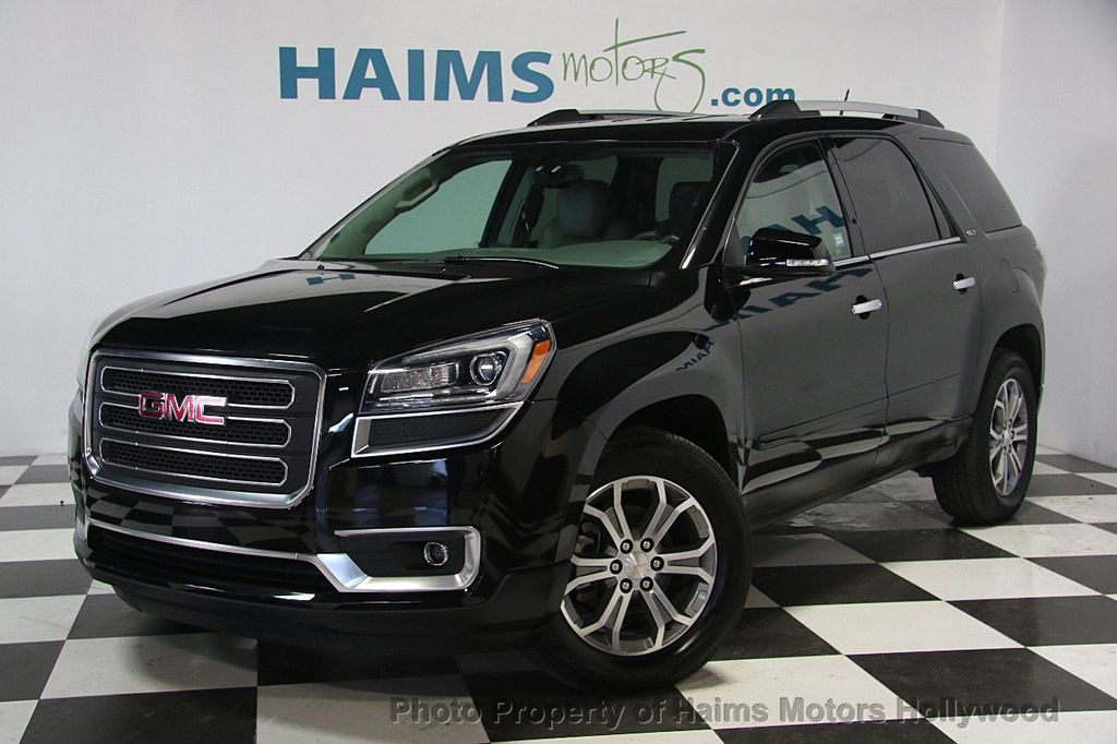 2016 used gmc acadia fwd 4dr slt w slt 1 at haims motors. Black Bedroom Furniture Sets. Home Design Ideas