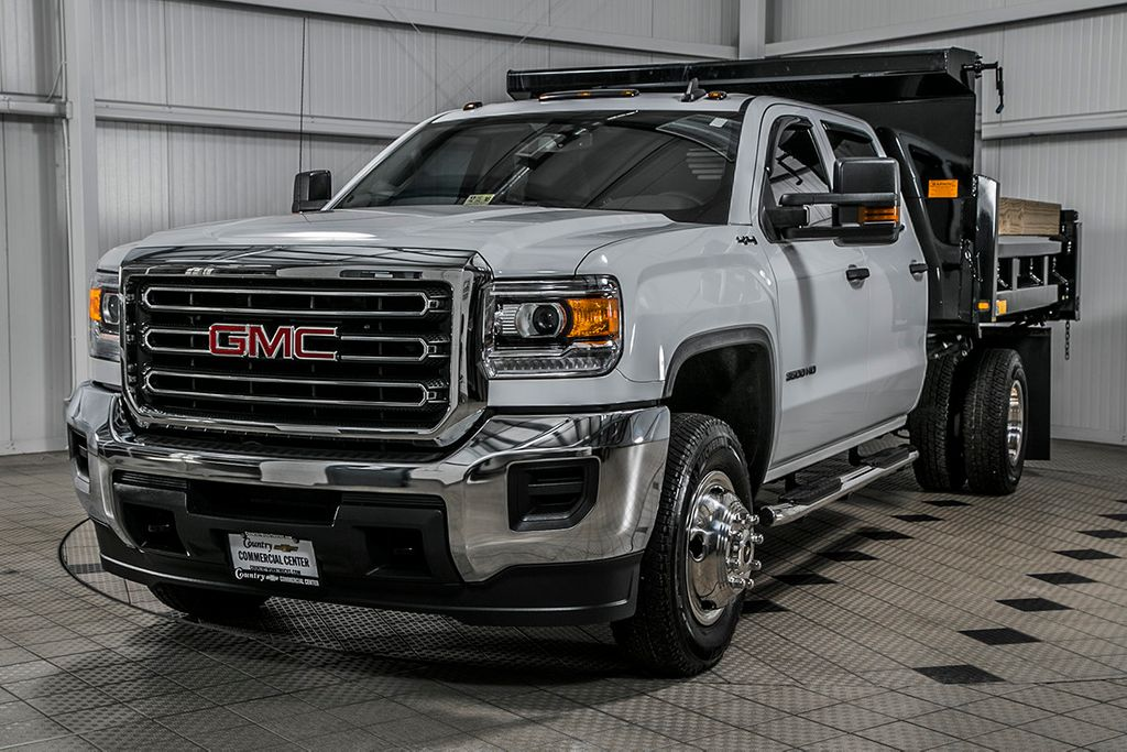 2016 used gmc sierra 3500hd 3500hd crew 4x4 6 0 v8 9 39 contractor dump 1 owner at country. Black Bedroom Furniture Sets. Home Design Ideas