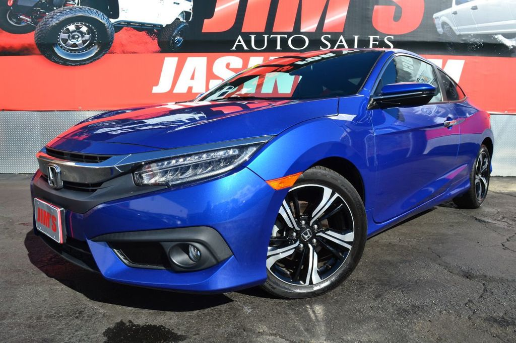 2016 Honda Civic Coupe Honda Civic Touring Navigation Backup Camera Moonroof - 18692899 - 0