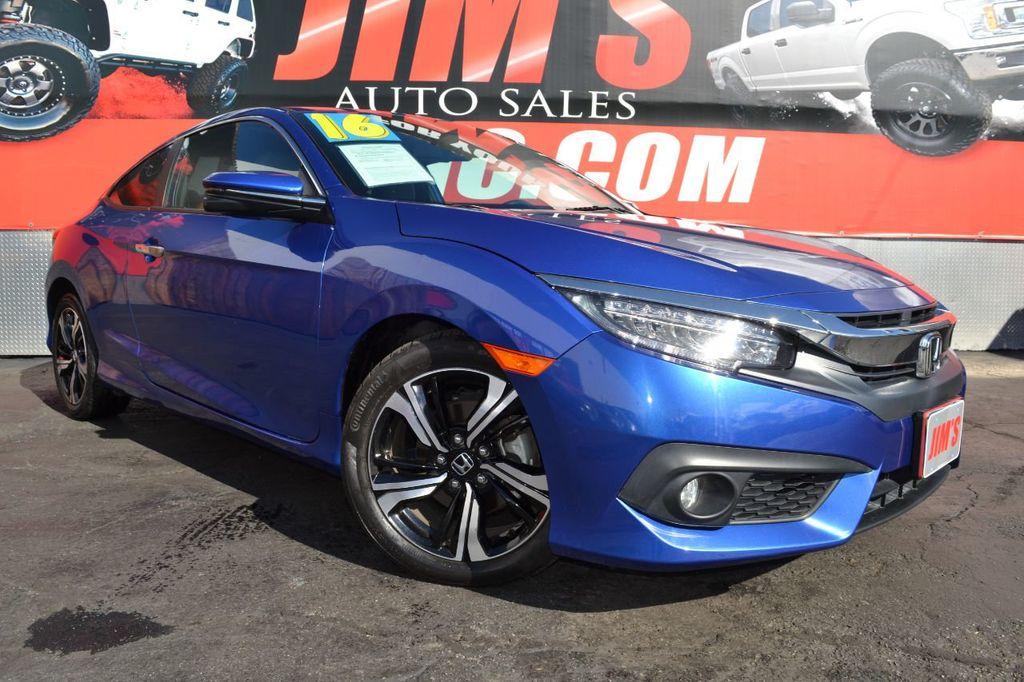 2016 Honda Civic Coupe Honda Civic Touring Navigation Backup Camera Moonroof - 18692899 - 2