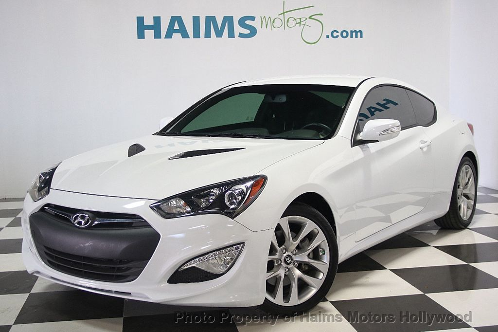 2016 used hyundai genesis coupe 2dr 3 8l automatic w black seats at haims motors ft lauderdale. Black Bedroom Furniture Sets. Home Design Ideas