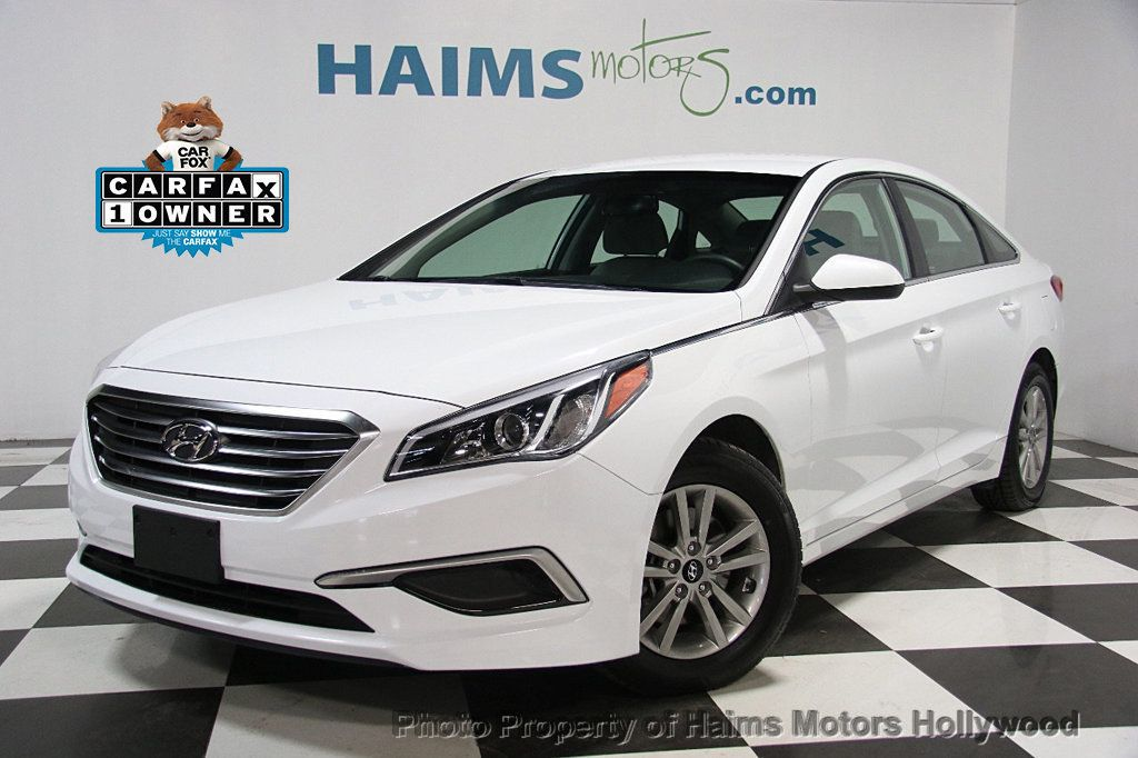 2016 used hyundai sonata 4dr sedan 2 4l se at haims motors serving fort lauderdale hollywood. Black Bedroom Furniture Sets. Home Design Ideas